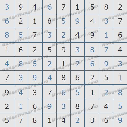 Pogo Daily Sudoku Solutions: June 20, 2020