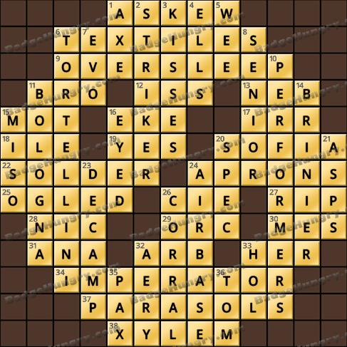 Crossword Cove HD Solution: June 20, 2020