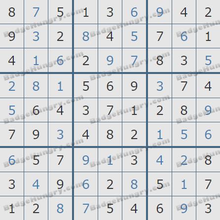 Pogo Daily Sudoku Solutions: June 21, 2020
