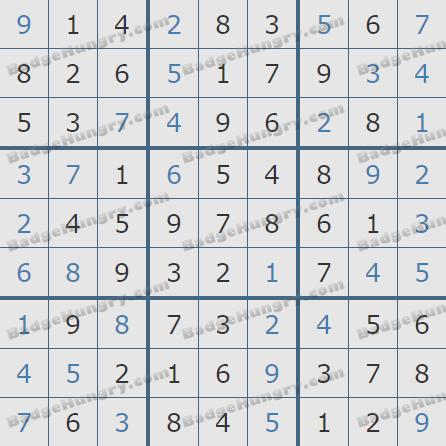 Pogo Daily Sudoku Solutions: June 22, 2020