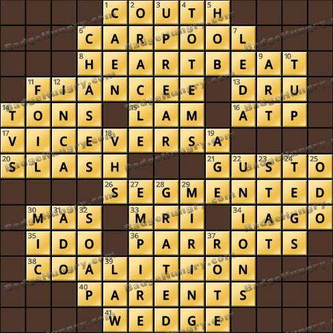 Crossword Cove HD Solution: June 22, 2020