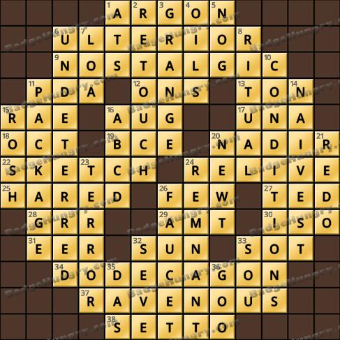 Crossword Cove HD Solution: June 23, 2020