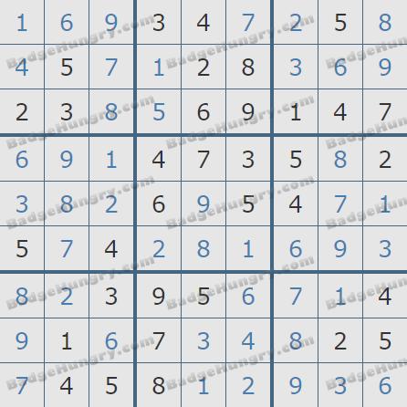 Pogo Daily Sudoku Solutions: June 24, 2020