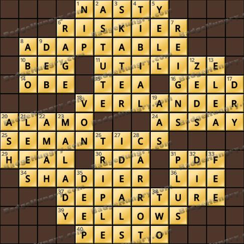 Crossword Cove HD Solution: June 24, 2020