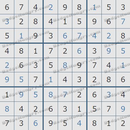 Pogo Daily Sudoku Solutions: June 26, 2020