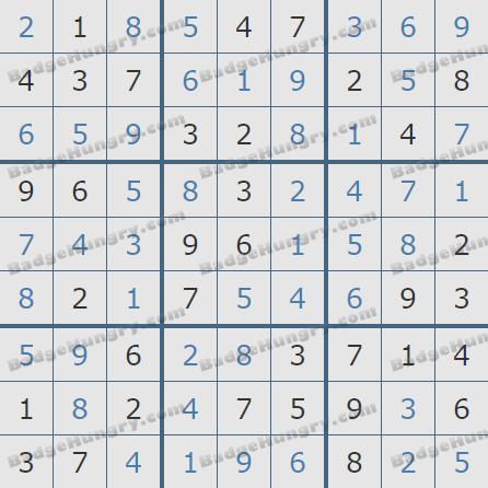 Pogo Daily Sudoku Solutions: June 27, 2020