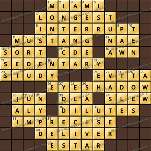 Crossword Cove HD Solution: June 27, 2020