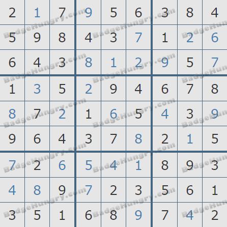 Pogo Daily Sudoku Solutions: June 28, 2020