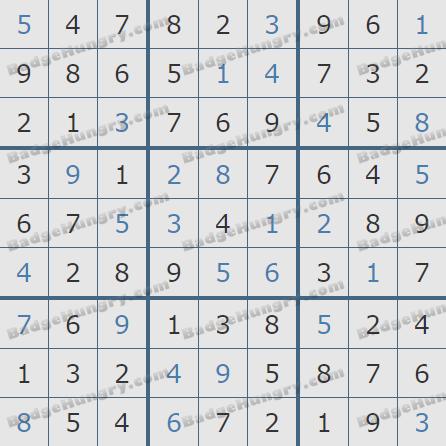 Pogo Daily Sudoku Solutions: June 30, 2020