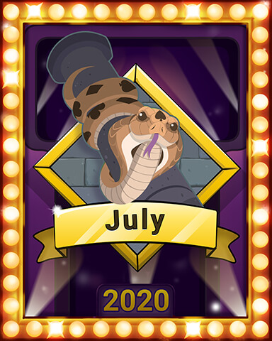July 2020 Game of the Month Tri-Peaks Solitaire HD Badge