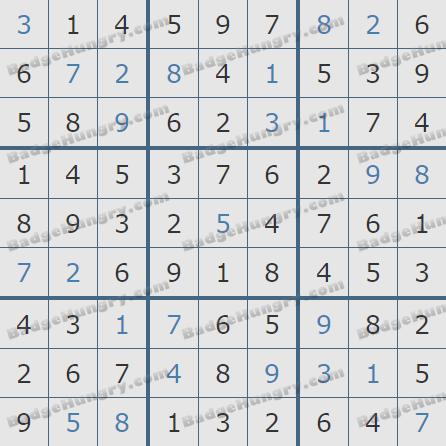 Pogo Daily Sudoku Solutions: July 7, 2020