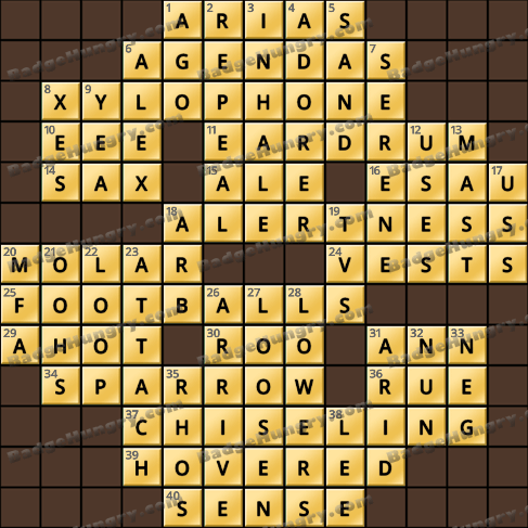 Crossword Cove HD Solution: July 9, 2020
