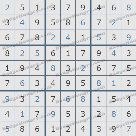 Pogo Daily Sudoku Solutions: July 10, 2020