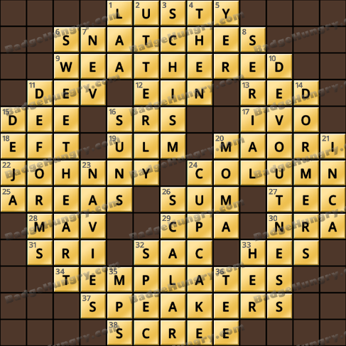 Crossword Cove HD Solution: July 10, 2020
