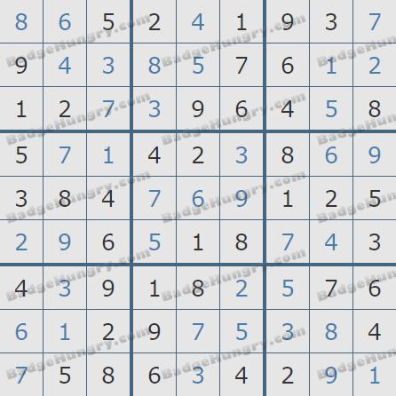 Pogo Daily Sudoku Solutions: July 21, 2020