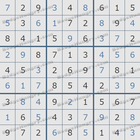 Pogo Daily Sudoku Solutions: July 25, 2020
