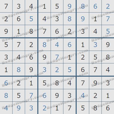 Pogo Daily Sudoku Solutions: July 26, 2020