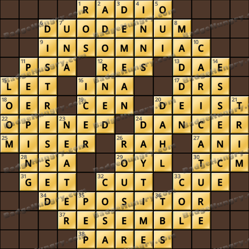 Crossword Cove HD Solution: July 30, 2020