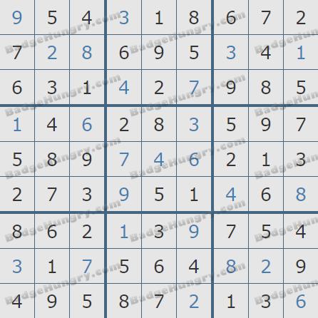 Pogo Daily Sudoku Solutions: July 31, 2020