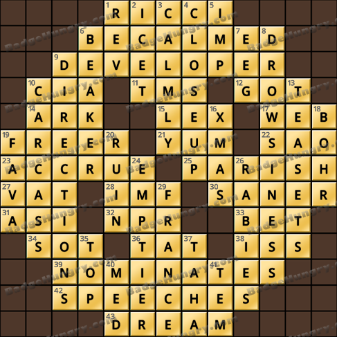 Crossword Cove HD Solution: July 31, 2020