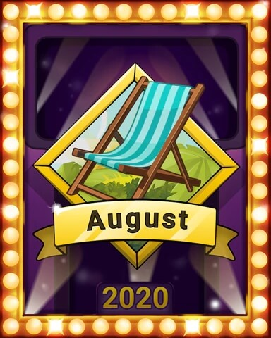 August 2020 Game of the Month Snowbird Solitaire Badge