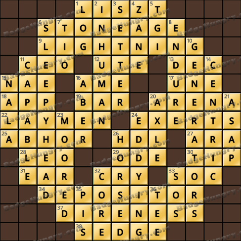 Crossword Cove HD Solution: August 1, 2020