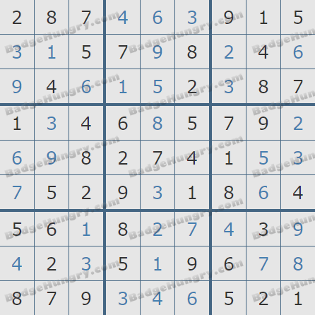 Pogo Daily Sudoku Solutions: August 2, 2020