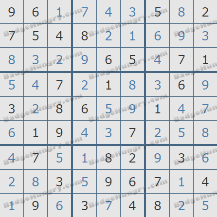 Pogo Daily Sudoku Solutions: August 6, 2020