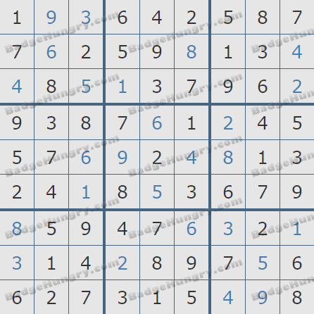 Pogo Daily Sudoku Solutions: August 14, 2020