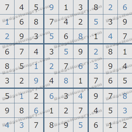 Pogo Daily Sudoku Solutions: August 18, 2020