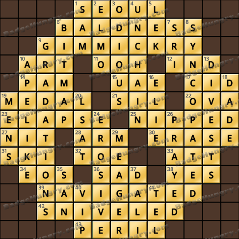 Crossword Cove HD Solution: August 22, 2020