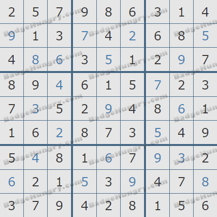 Pogo Daily Sudoku Solutions: August 23, 2020