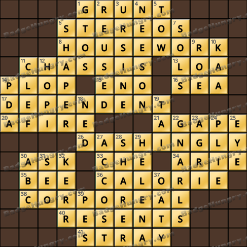 Crossword Cove HD Solution: August 23, 2020