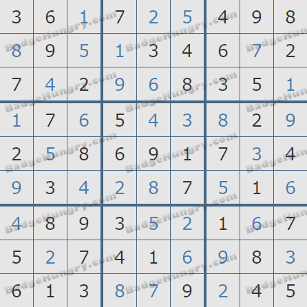 Pogo Daily Sudoku Solutions: August 25, 2020