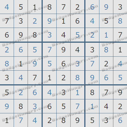 Pogo Daily Sudoku Solutions: August 26, 2020