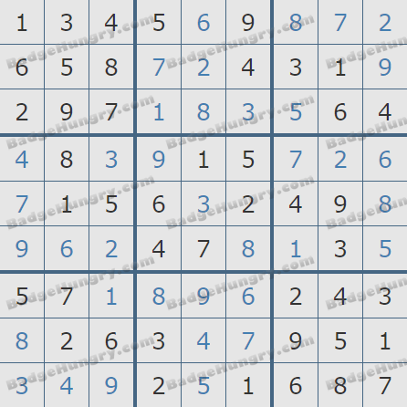 Pogo Daily Sudoku Solutions: August 30, 2020