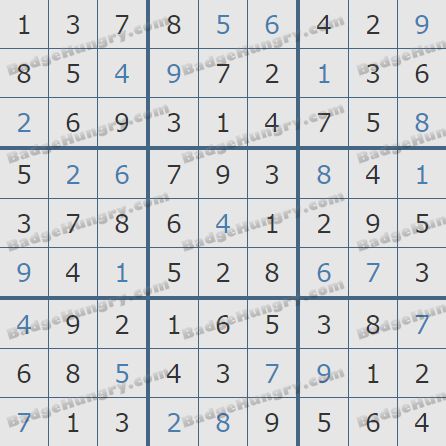Pogo Daily Sudoku Solutions: August 31, 2020
