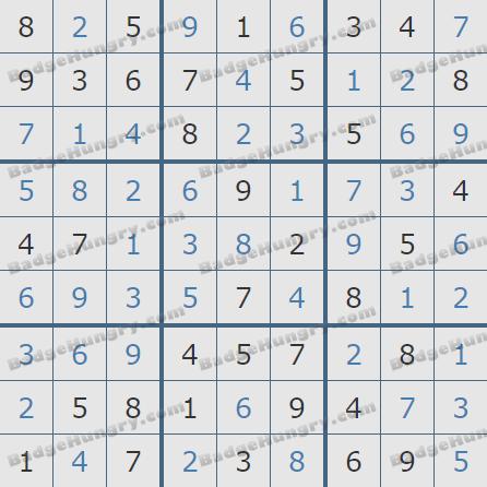 Pogo Daily Sudoku Solutions: September 1, 2020