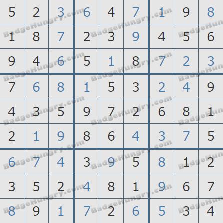 Pogo Daily Sudoku Solutions: September 2, 2020