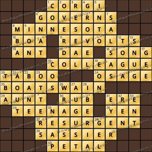 Crossword Cove HD Solution: September 2, 2020