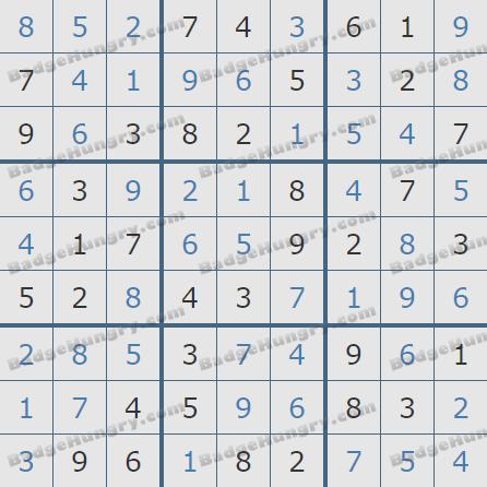 Pogo Daily Sudoku Solutions: September 4, 2020