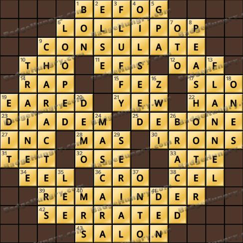 Crossword Cove HD Solution: September 4, 2020
