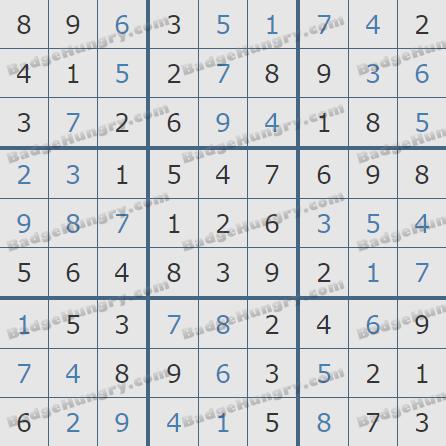 Pogo Daily Sudoku Solutions: September 5, 2020