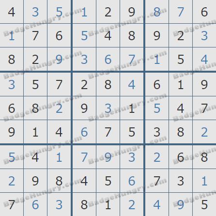 Pogo Daily Sudoku Solutions: September 7, 2020