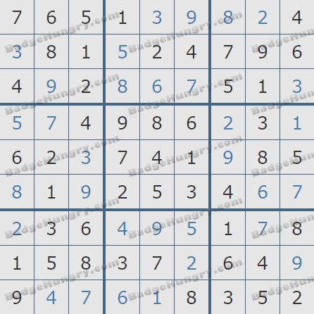 Pogo Daily Sudoku Solutions: September 9, 2020