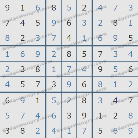 Pogo Daily Sudoku Solutions: September 10, 2020