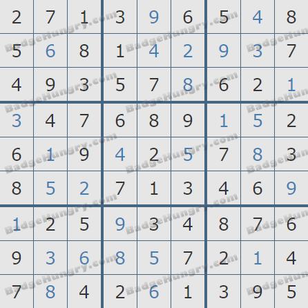 Pogo Daily Sudoku Solutions: September 11, 2020