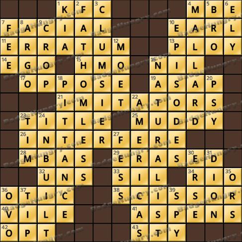 Crossword Cove HD Solution: September 13, 2020