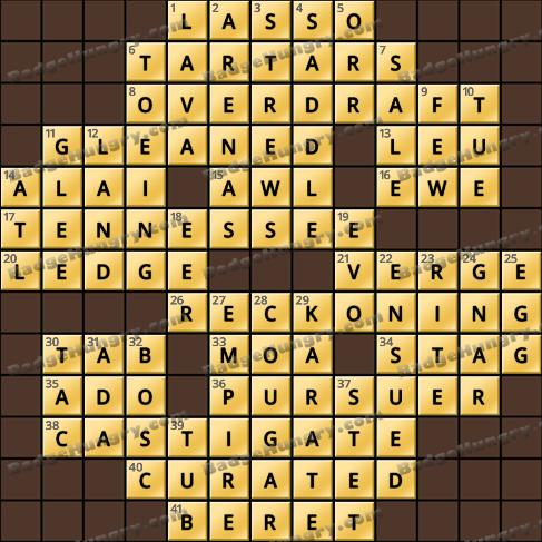 Crossword Cove HD Solution: September 16, 2020