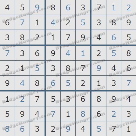 Pogo Daily Sudoku Solutions: September 17, 2020